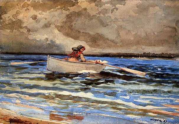 Rowing at Prout's Neck: 1887