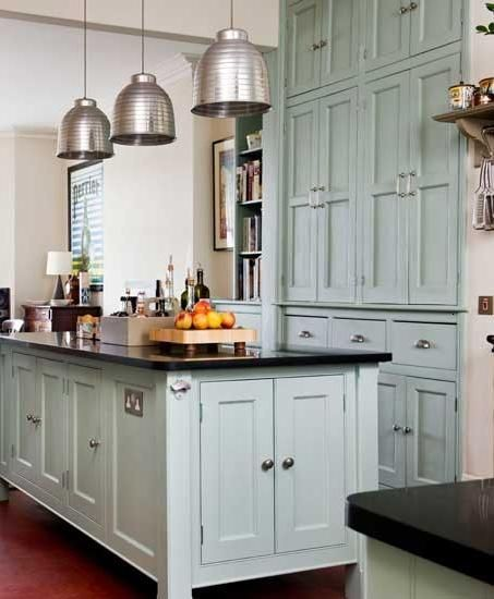 Something Blond Blue Kitchens: A Victorian Kitchen Update Done Right. Painted Floor To