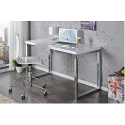 Photo of Moderner Schreibtisch White Desk 120cm weiß Hochglanz Bürotisch Riess AmbienteRiess Ambiente