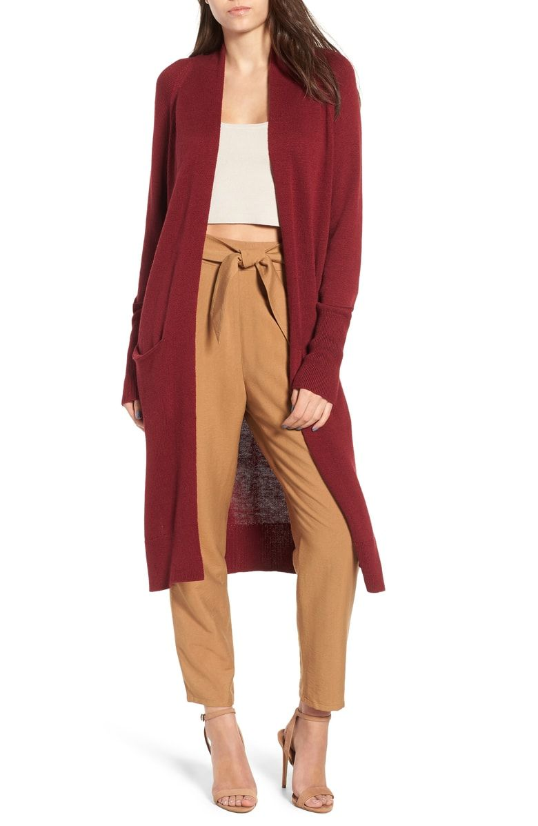 0caba70ce85 Free shipping and returns on Leith Side Split Midi Cardigan at  Nordstrom.com. An elegant calf-grazing cardigan with a bit of slouch  radiates gorgeous soft ...