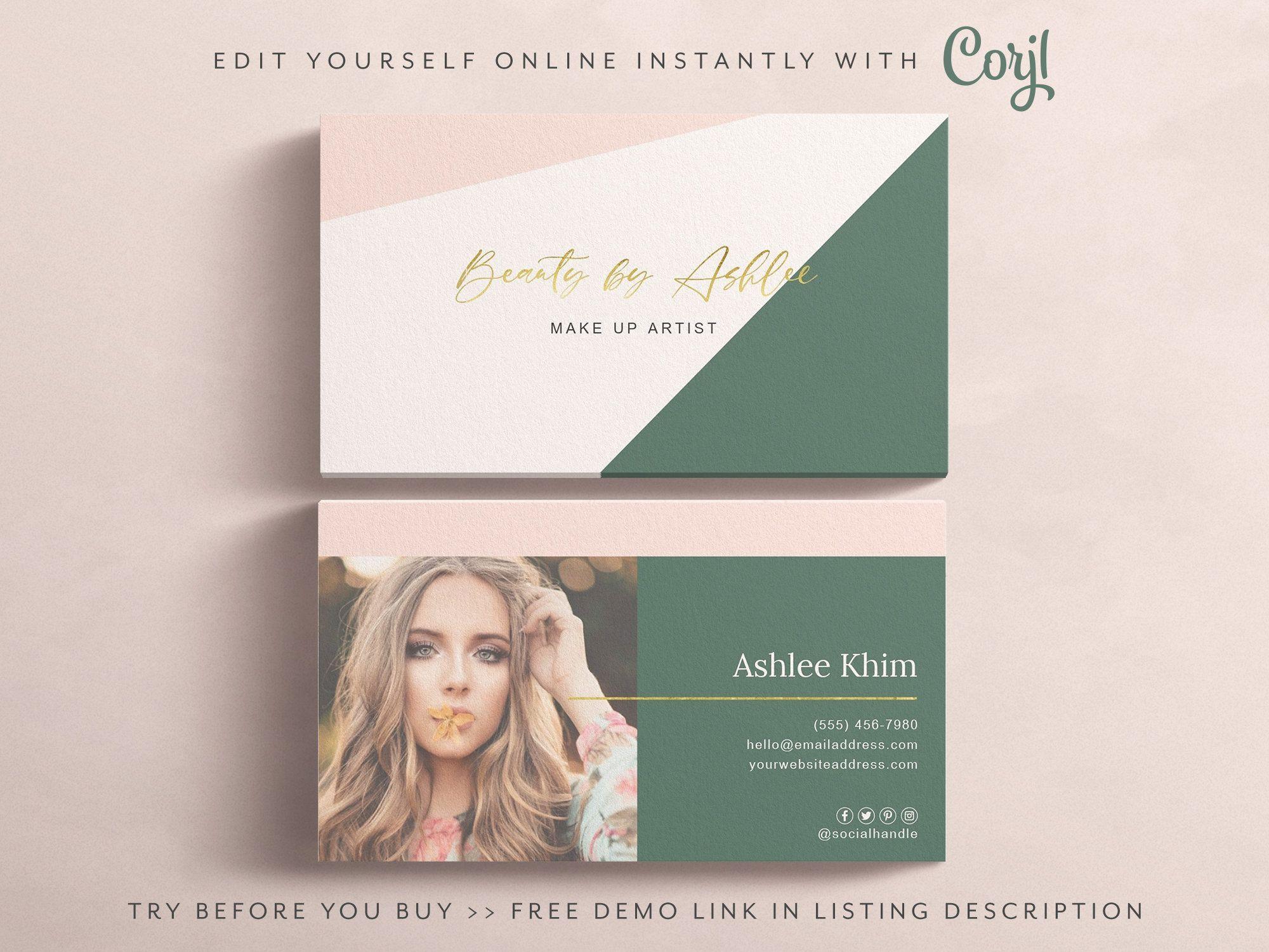 Corjl Editable Business Card Template Diy Business Card Etsy Modern Business Cards Business Card Template Diy Business Cards