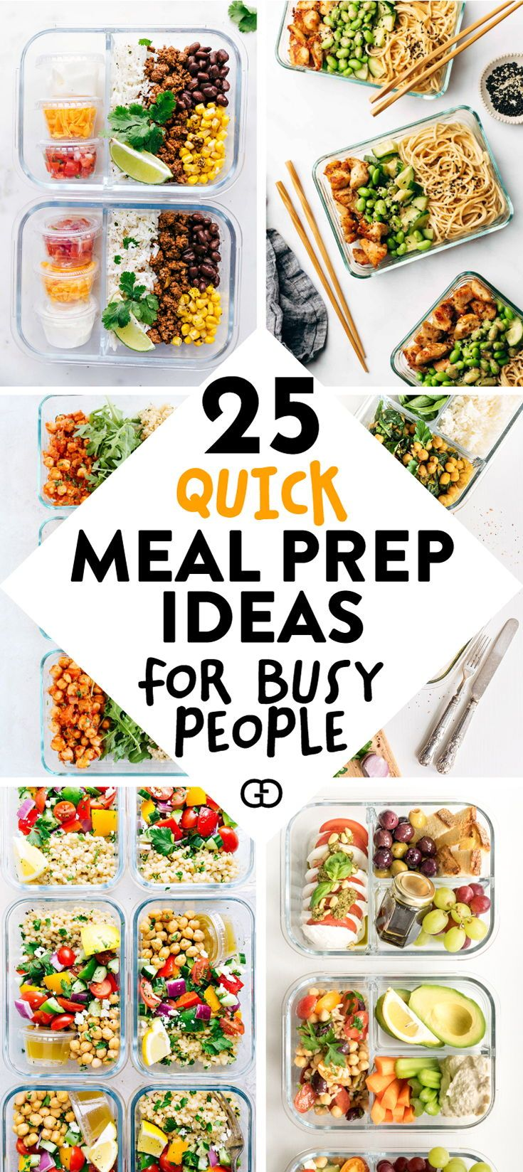 25 Healthy Meal Prep Ideas To Simplify Your Life -   18 meal prep recipes for the week lunches ideas