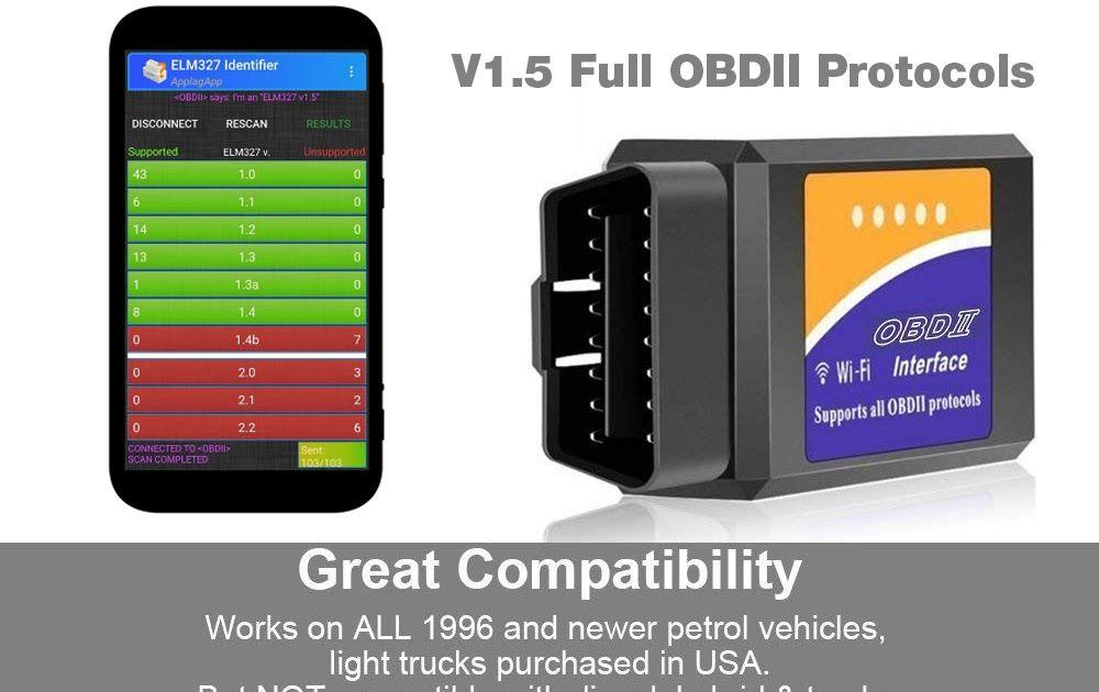 Cheape st universal obd2 wifi elm327 pic18f25k80 v 15
