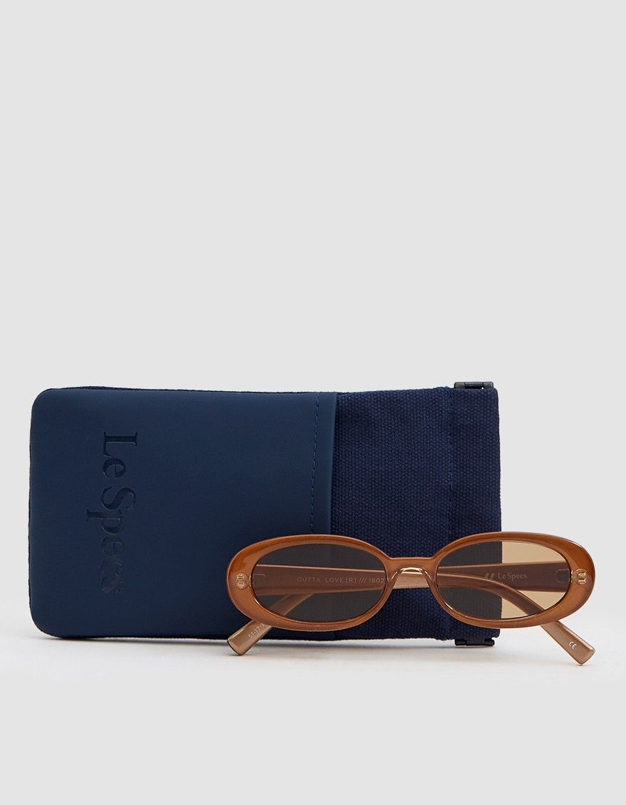 9c43fdfdaf910 Le Specs   Outta Love sunglasses in Caramel