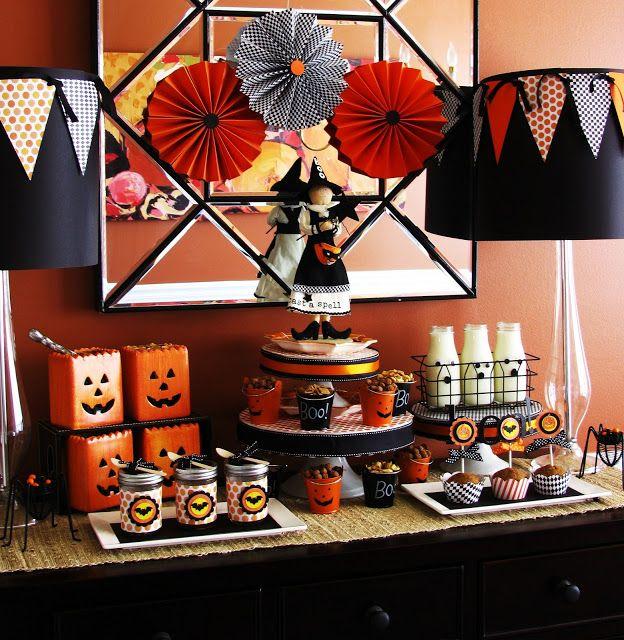 halloween table Halloween Party Inspirations Pinterest - halloween party decoration ideas