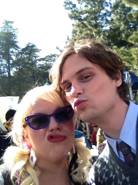 My 2 favorite people from CM, Kirsten Vangsness  Matthew Gray Gubler