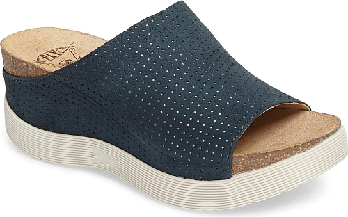 33635db42dcd Women s Fly London Whin Platform Sandal in Reef Leather. Pindot  perforations add to the breezy appeal of a comfy slide sandal lofted by a  superchunky ...