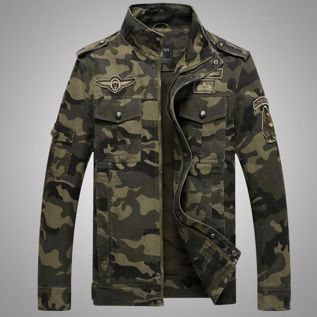 2017 Air Force Men Jackets Camouflage Jacket Men Causal Outwear Jackets And Coats Mens Pockets Clothing Plus Size M-3XL