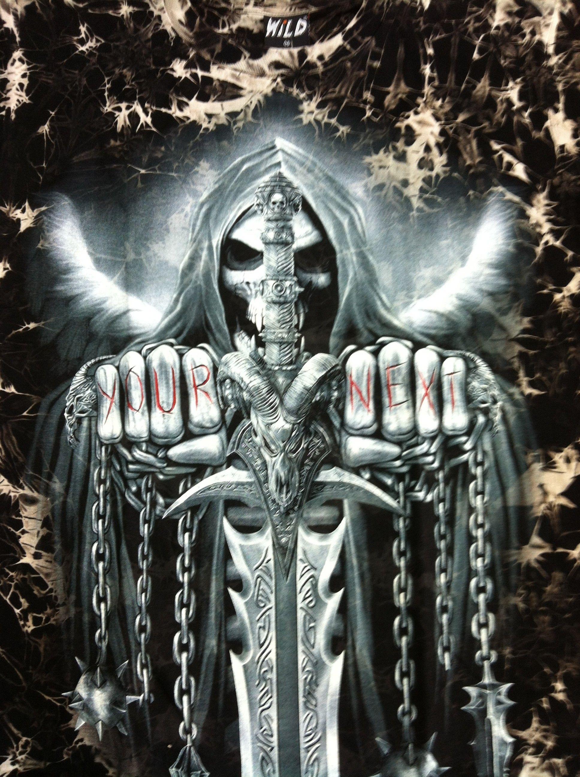 62 Badass Skull Wallpapers On Wallpaperplay Skull Wallpaper Grim Reaper Art Grim Reaper