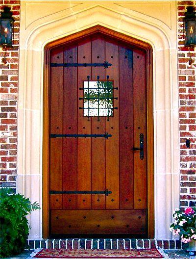 Gothic Craftsman Clark Hall Doors Charlotte Nc Craftsman Wood