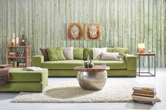 Schickes Megasofa in frischem Grün - Ihr neuer Lieblingsplatz - Wohnzimmer Design Grun