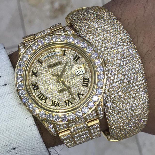 Rolex Big Boy Daydate 41mm Bustdown Authentic Buy Sell Trade 305 377 3335 Whatsapp 305 216