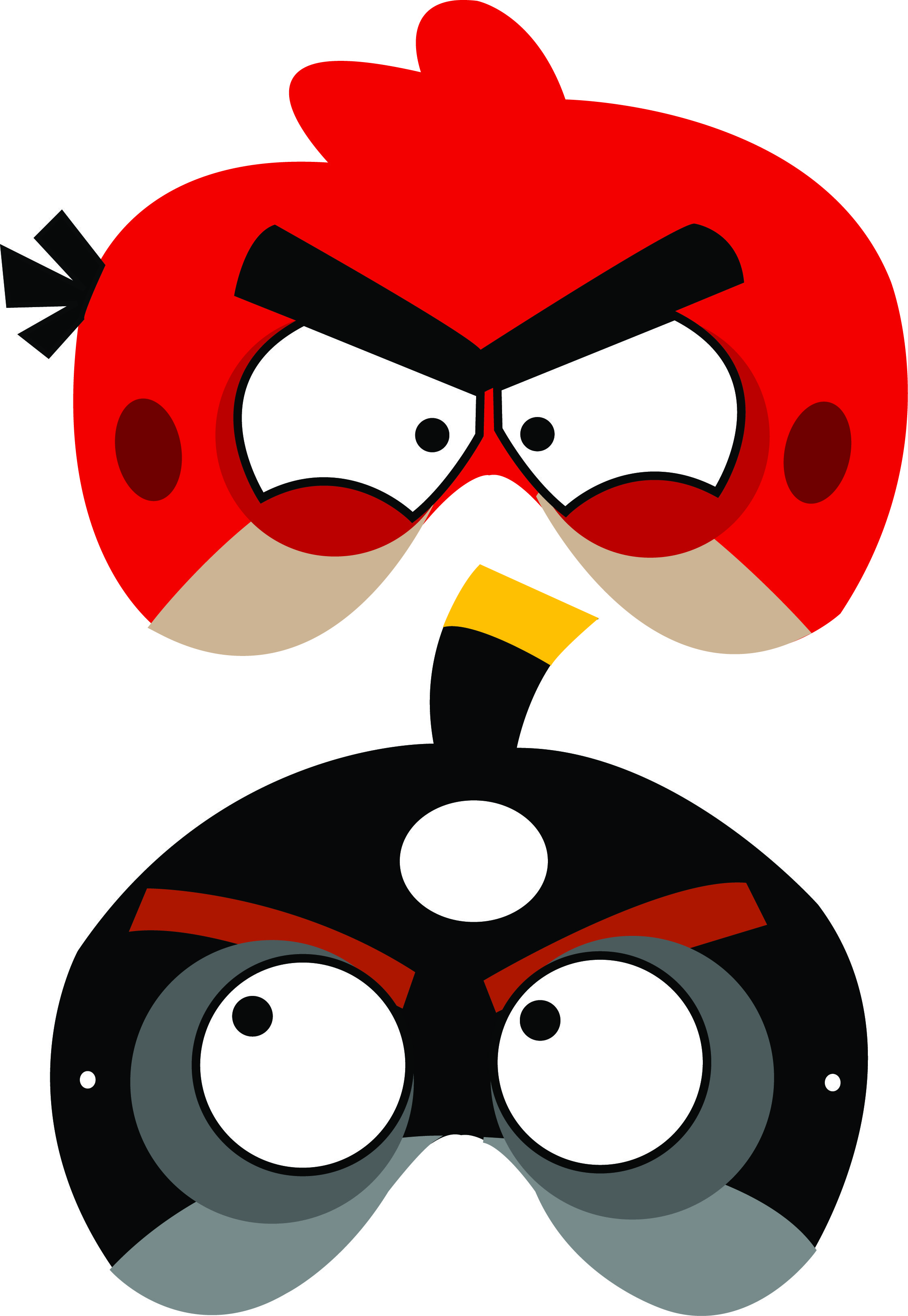 angry birds free printable masks | Luca's B-day Party | Pinterest ...