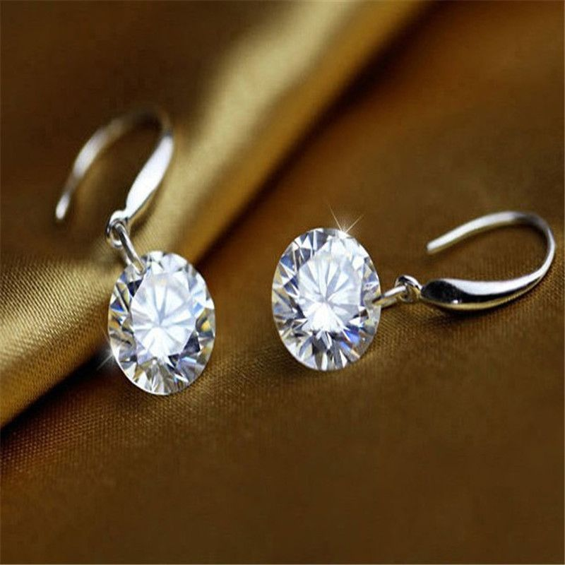 Valentine's Day Sterling Sterling Silver Diamond Stud Earrings