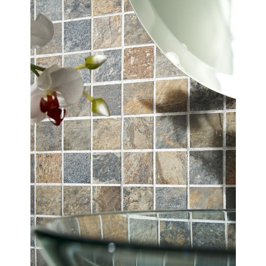 Shop style selections aspen sunset glazed porcelain mosaic square shop style selections aspen sunset glazed porcelain mosaic square indooroutdoor square accent tile dailygadgetfo Choice Image