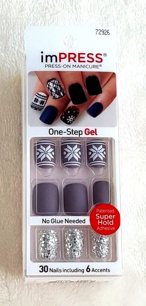 Kiss ImPRESS Press-On Manicure #72926 | Manicure, Kiss and Gel nail kit