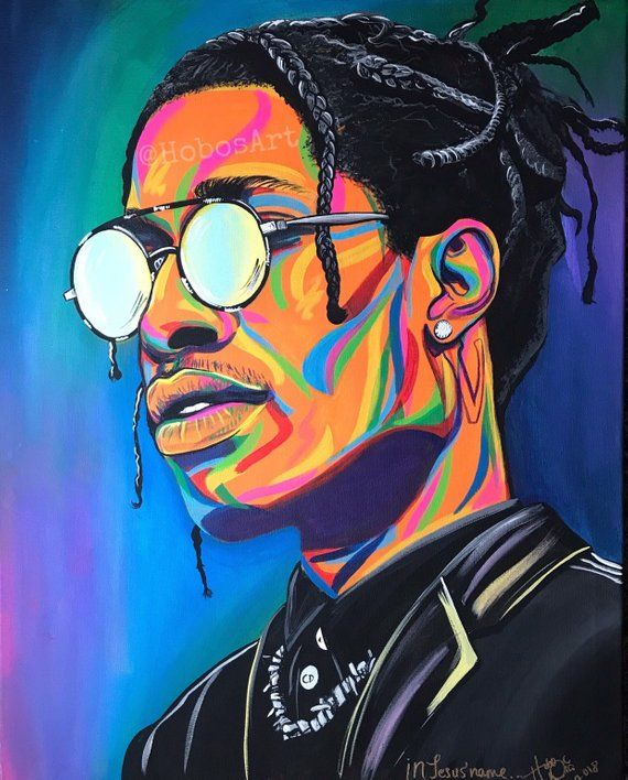 ASAP Rocky Wall Art | Etsy