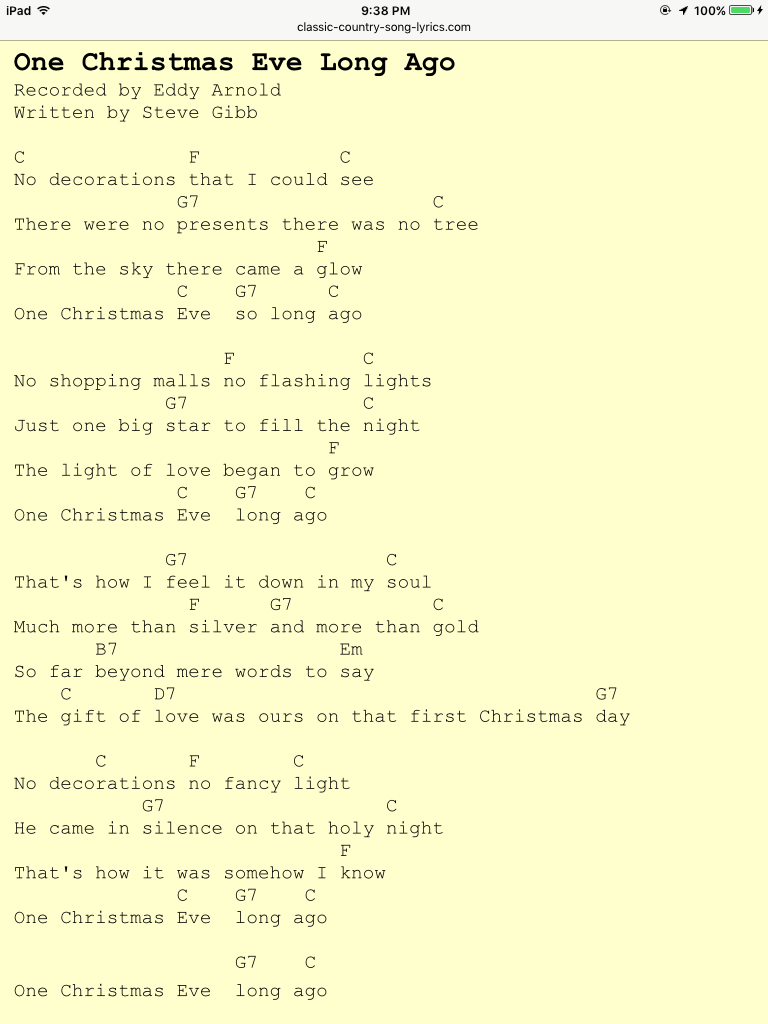 One Christmas Eve Long Ago by Eddie Arnold (With images