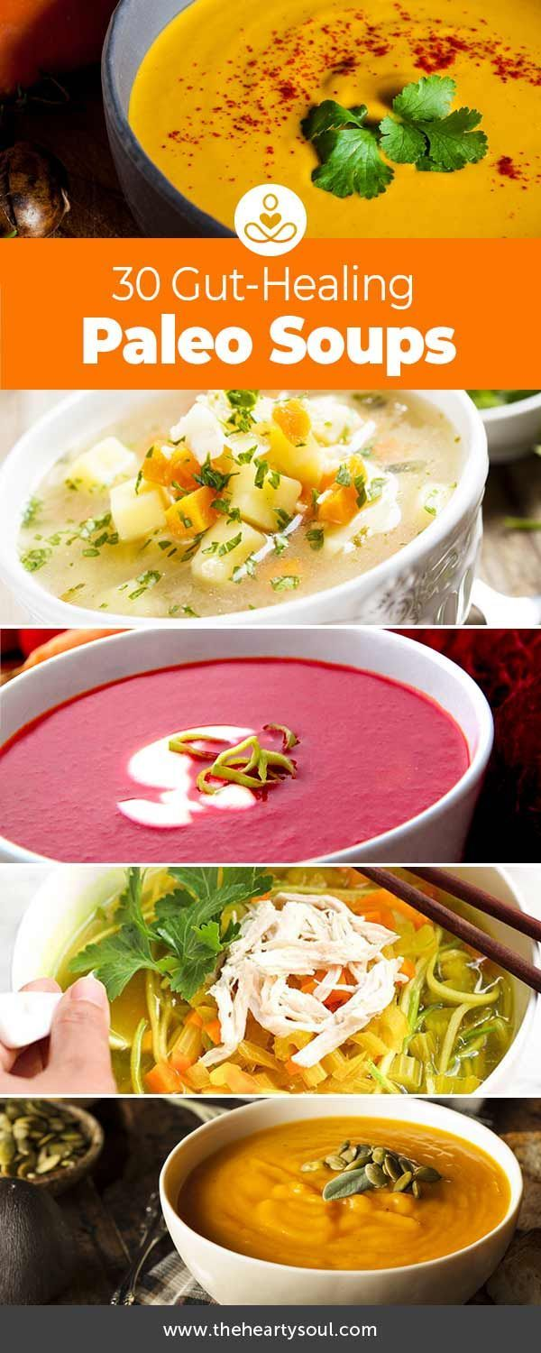 Soup Recipes That Fight Inflammation and Cleanse the Gut This article is shared with permission from our friends at PaleoHacks. Reset your body and heal your gut with these 37 deliciously nourishing recovery soups. Feeling a bit under the weather? Thesesoups– some creamy, some brothy, some savory, some s