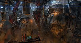 Steampunk Factory Concept Art