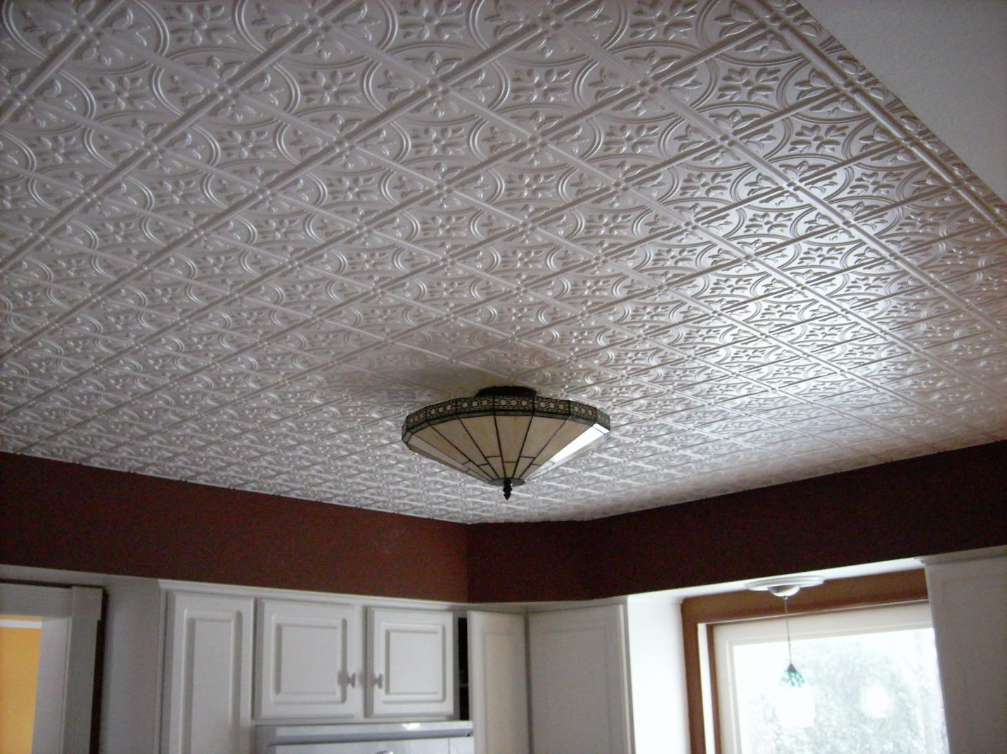 White tin ceiling google search lerch house pinterest white tin ceiling google search dailygadgetfo Image collections