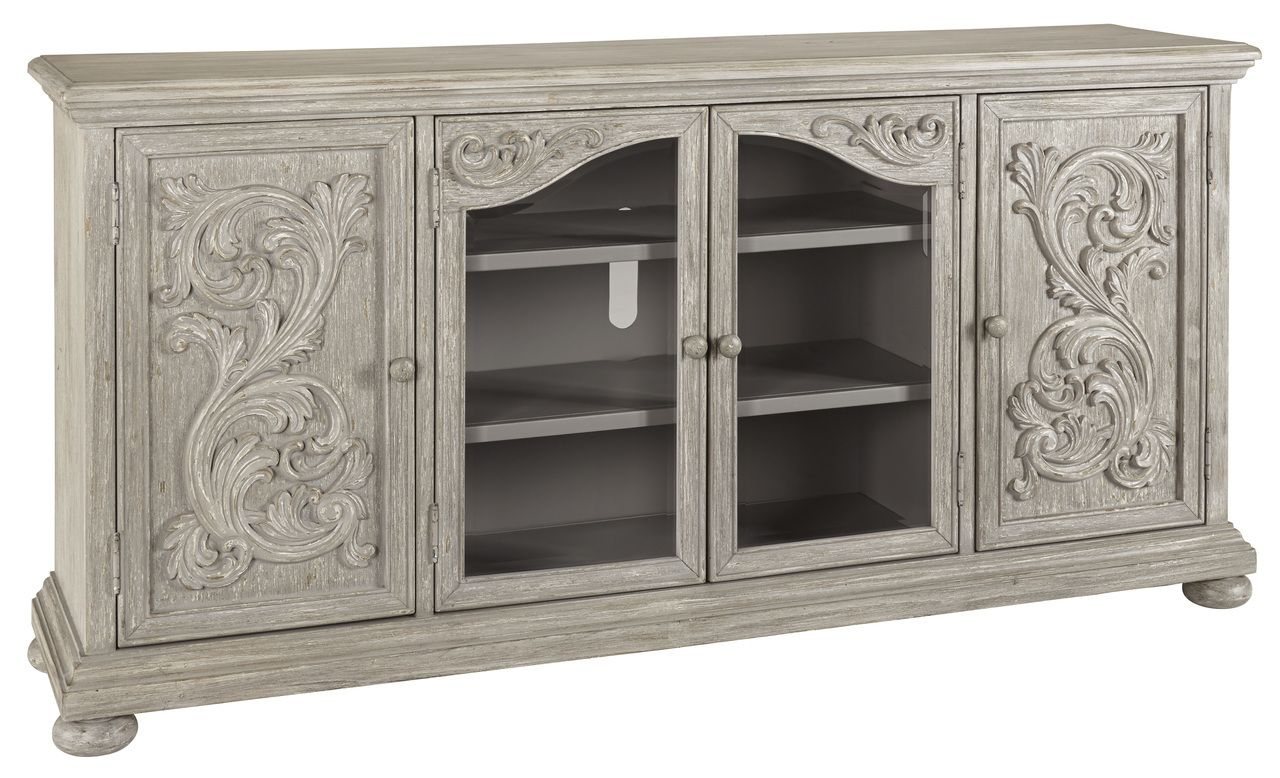 Cleveland Furniture Factory Outlet Marleny Gray Extra Large Tv Stand W644 60