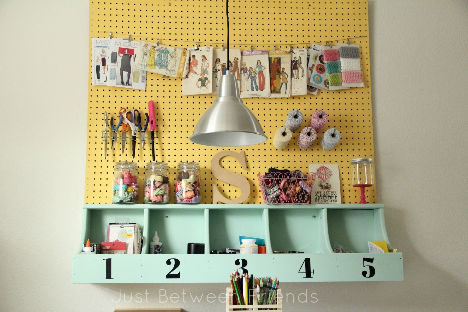 My Craft Room {2 | Room, Pegboard craft room and Slat wall