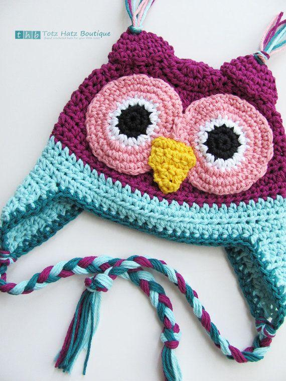 crochet hat.   Beanies and hats   Pinterest   Owl, Patrones y ...