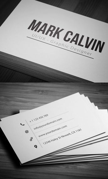 Simple Individual Business Card Businesscards - Single business card template