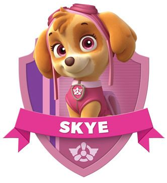 Sky The Dog Paw Potral Picture