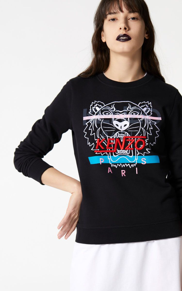 45d1d69728e389 BLACK 'Hyper Tiger' sweatshirt for women KENZO | My Style - 2018+ ...