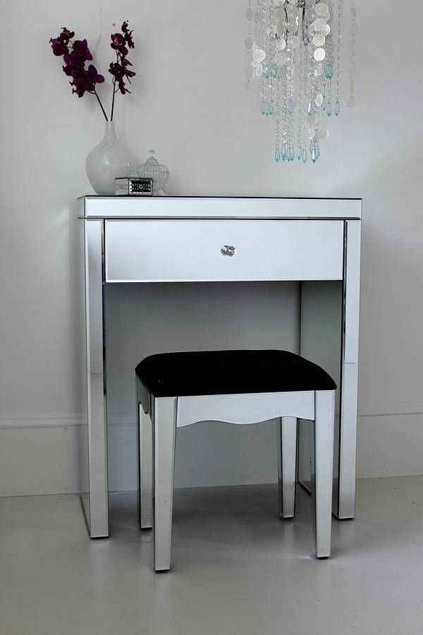 Mini Mirrored Dressing Table Small Vanity Table White Vanity Table Small Vanity