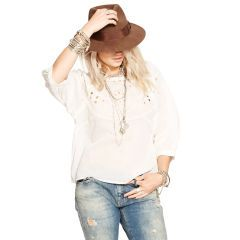 Cotton Voile Eyelet Top - Denim & Supply  Long-Sleeve - RalphLauren.com