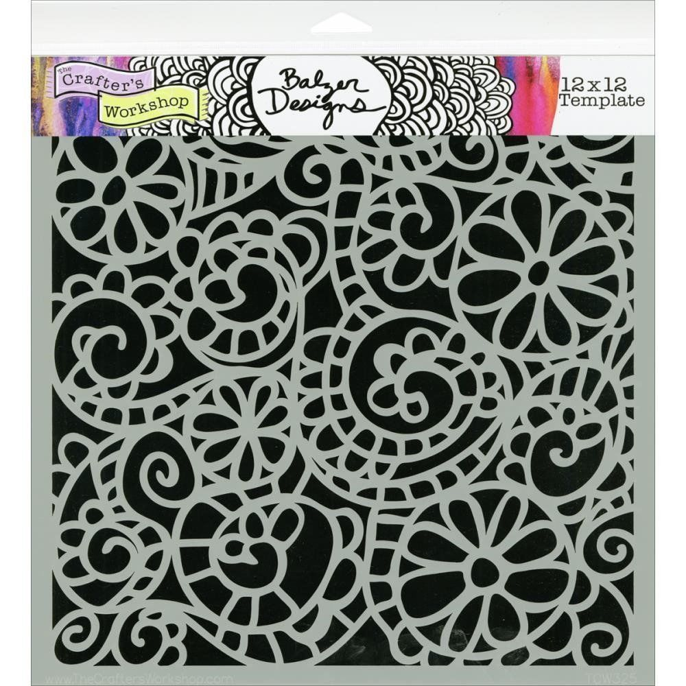 """Crafters 12x12 Stencil Crafter/'s Workshop Template 12/""""x12/""""-branches Reversed"""