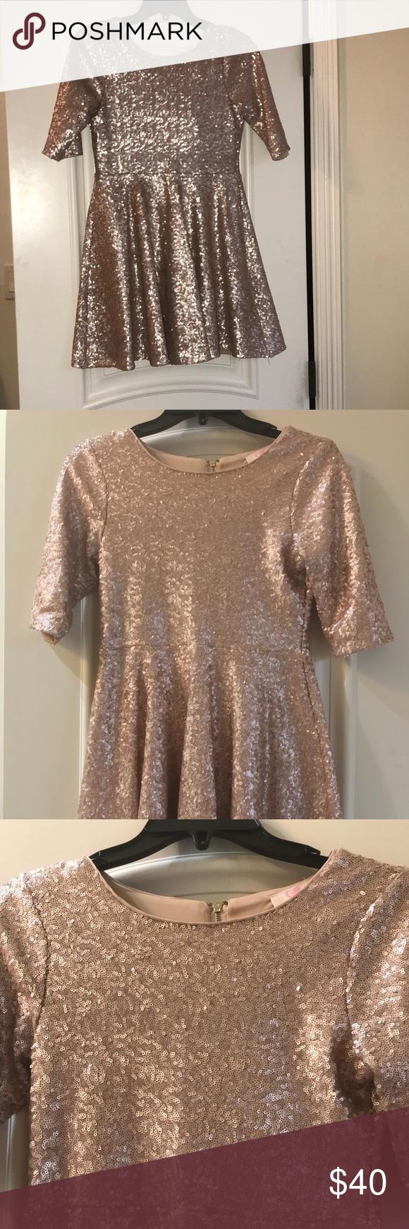 7b01a2fcf2 Gianni Bini Girl dress Beautiful and elegant sequin rose gold dress. Used  once