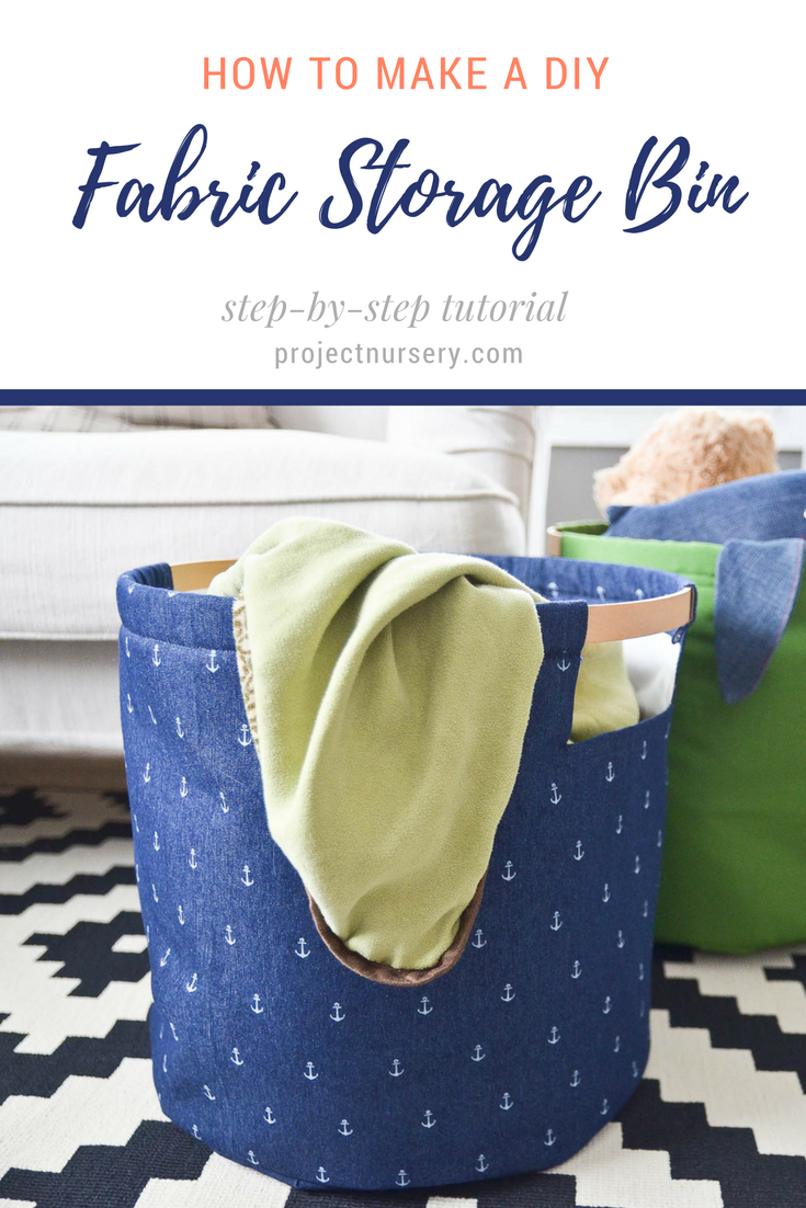 DIY Fabric Storage Bins | DIY storage, Storage and Fabric storage