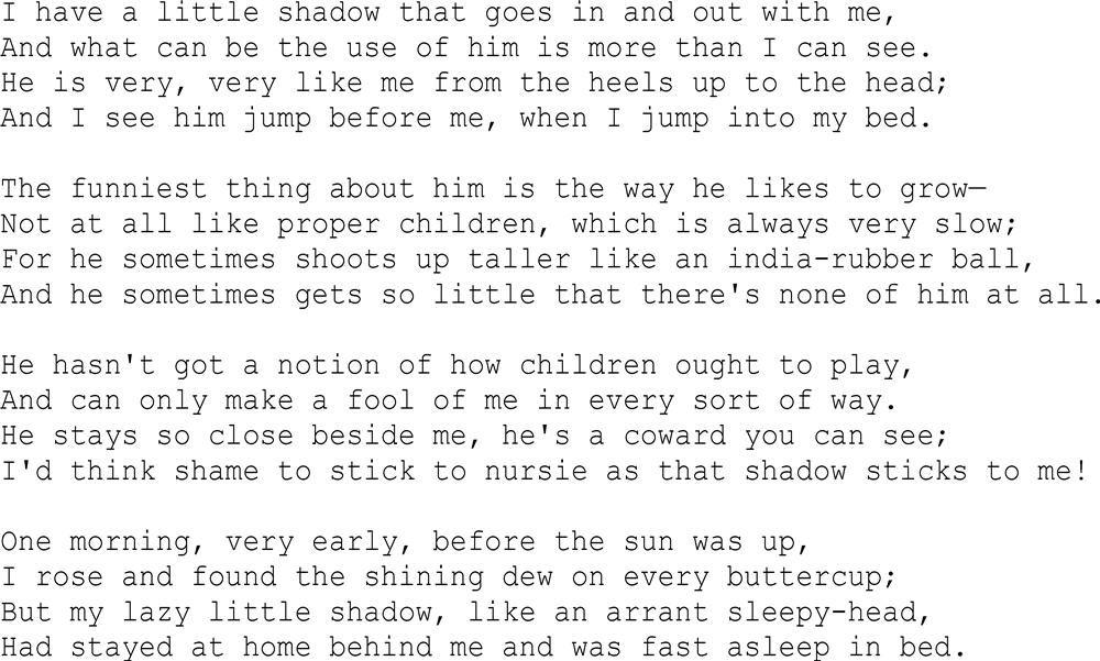 i had a little shadow