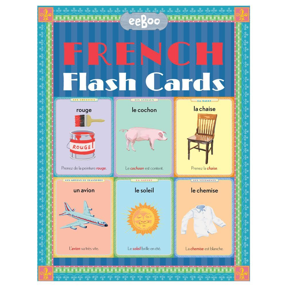 French Language Flash Cards French Flashcards Learn French Flashcards