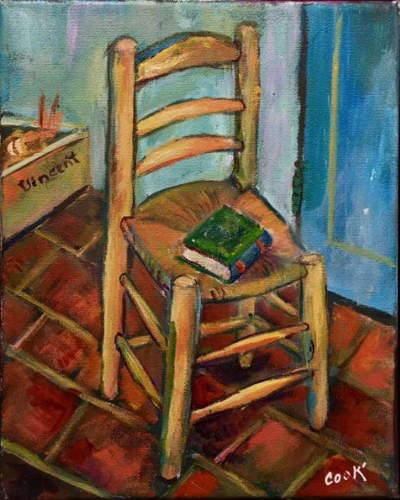 van gogh s chair acrylic painting lessons for beginners to
