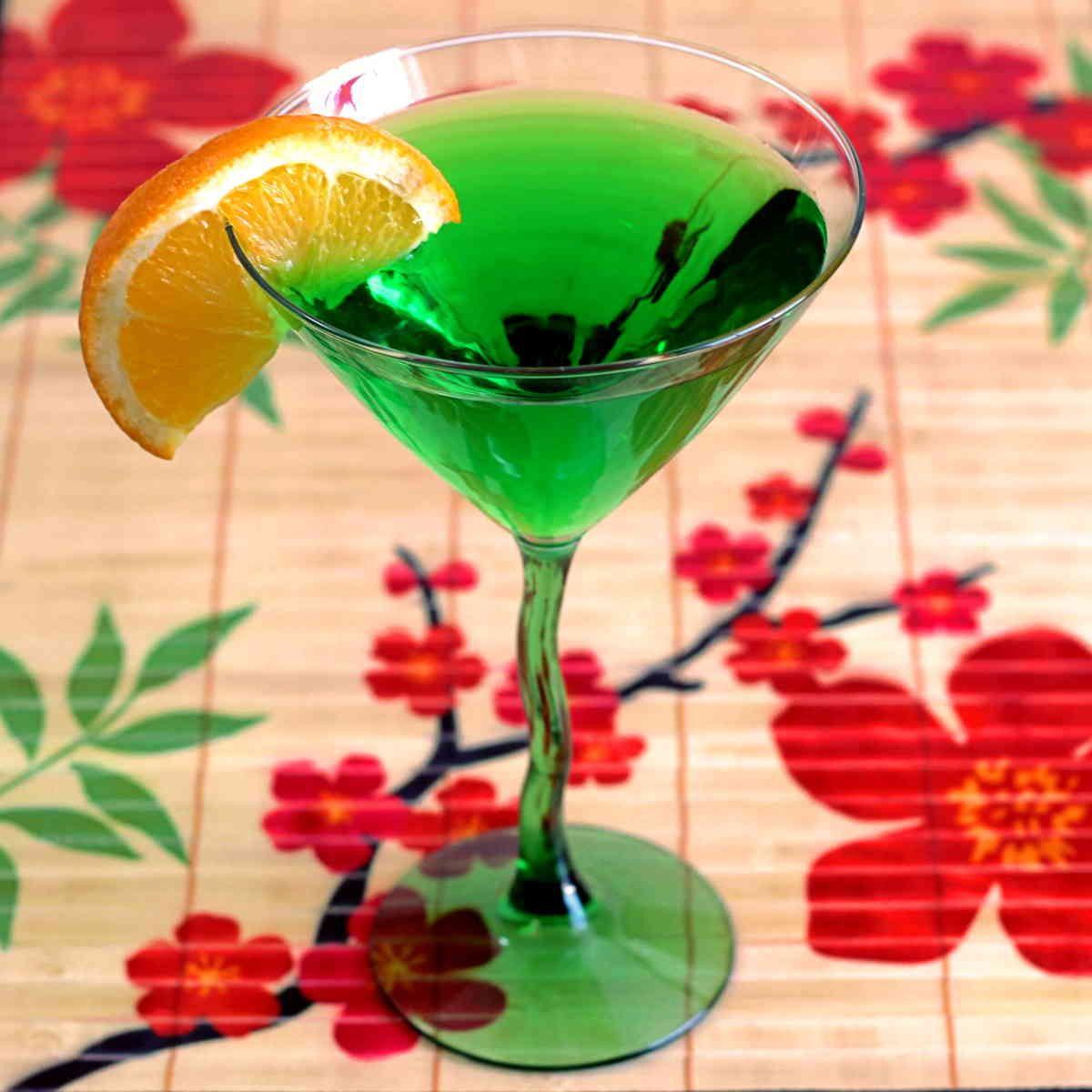 Honeydew Martini, A Midori And Vodka Drink Recipe