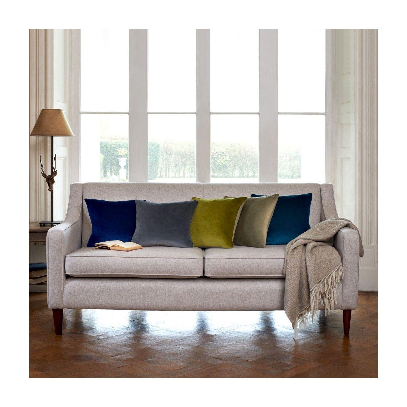 Velvet/Linen Cushion - Olive