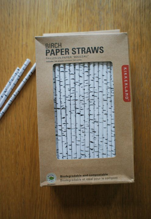 Birch Paper Straws! | Fine Little Day  Perfect for an Alaska summer solstice party