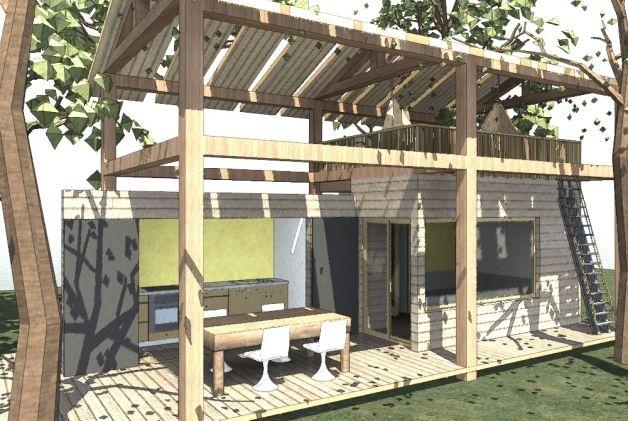 Pool House Rosse' Maison, Idées pour la maison, Construire
