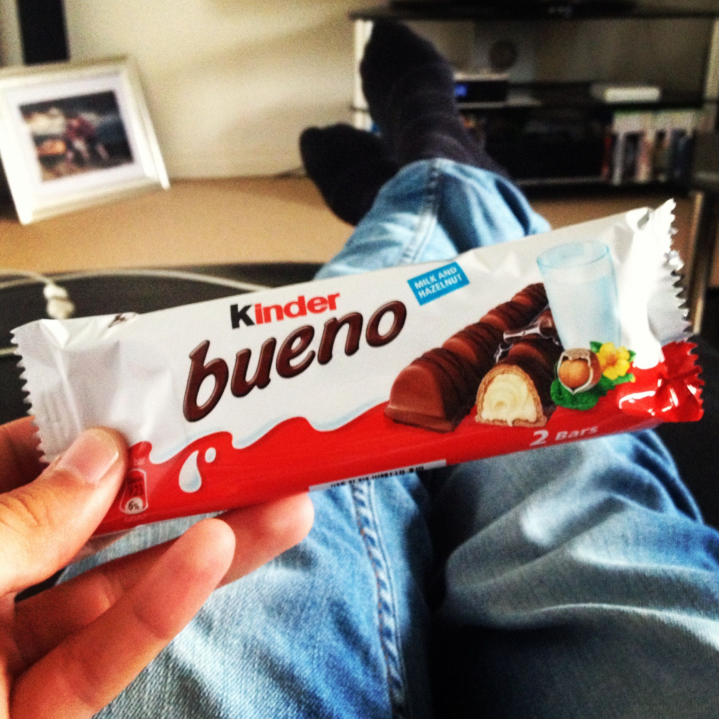 Kinder bueno, one of my favourite chocolate bars ever.