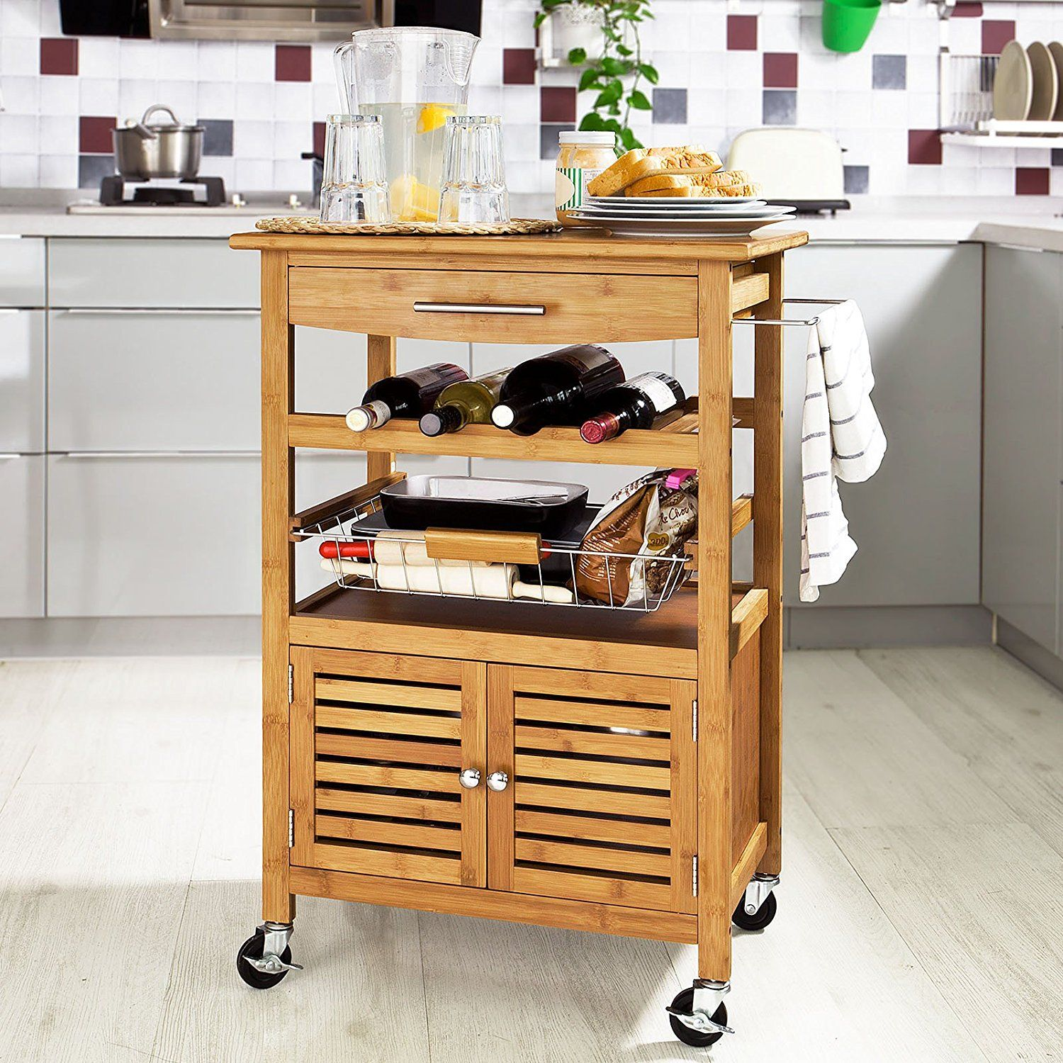 So Large Wheeled Kitchen Trolley Storage Rack From Cabinets Trolleys Pictures