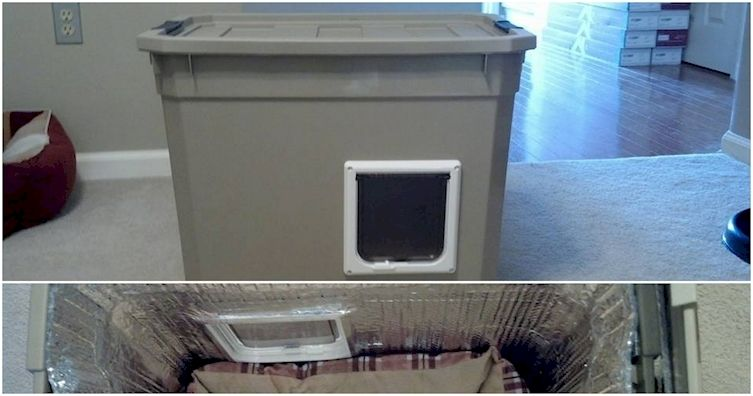 Turn Old Rubbermaid Container Into Diy Shelter For Stray