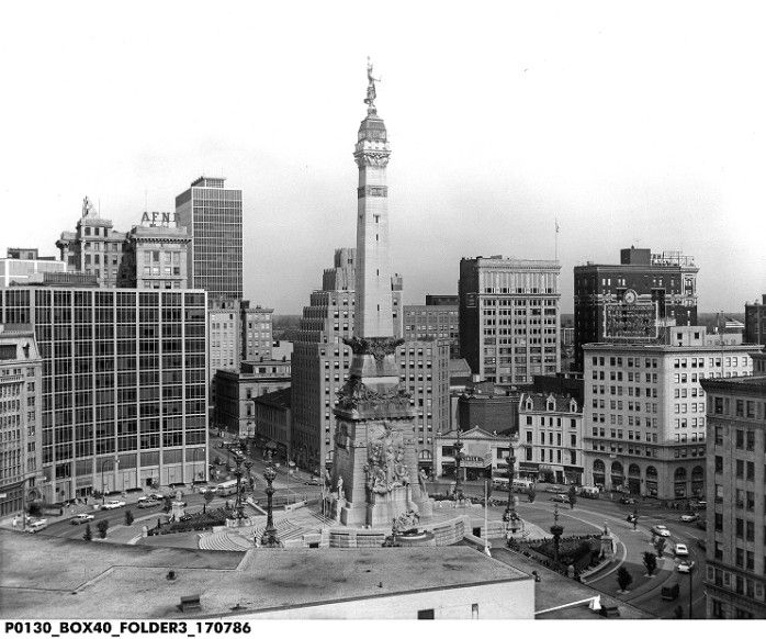 Aerial View Monument Circle In 1960 This Was From The Time