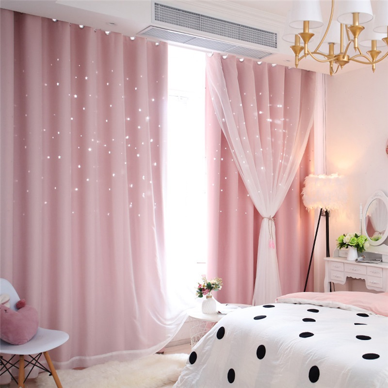 Fresh Max Blackout Curtain Hollow Star Curtain With Sheer Curtain Kids Room Curtain One Panel Kids Room Curtains Curtains Living Room Kids Curtains