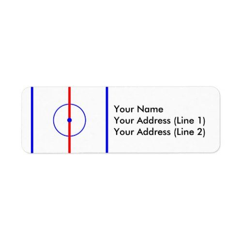 Hockey Centre Ice Blue Lines Label Zazzle Com Blue Line Ice Blue Hockey Inspiration
