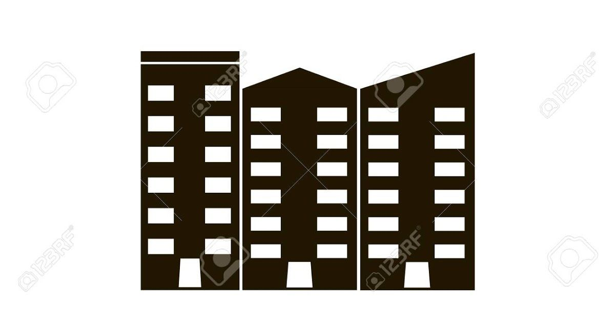 Apartment Vector Isolated Ofice Building Flat Vector Black Apartments Vectors Photos And Psd Files Free Downloa Building Icon Vector Photo Free Vector Clipart